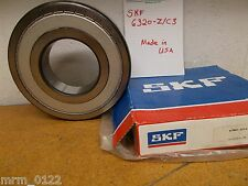 SKF 6320-Z/C3 08 028F Single Row Ball Bearing New