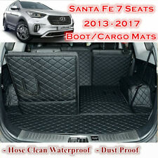 Customized Car Boot Cargo Mats Cover Liner for Hyundai Santa Fe 7 seats 13 - 18