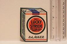 lucky strike cigarettes style spoof parody decal sticker