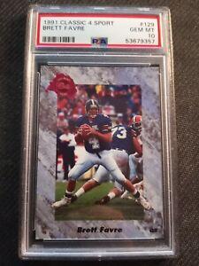 Brett Favre - PSA 10 - 1991 Classic 4 Sport #129 - HOF - Low POP - Free Ship
