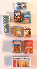 Miniature dollhouse fairy 9 Boxes Breakfast items Count Chocula Trix Milk Donuts
