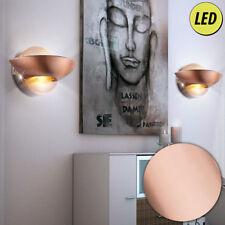 2er Set LED Wand Leuchten Schlaf Gäste Zimmer Strahler UP DOWN Kupfer Lampen