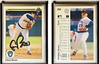 Chris Bosio Signed 1990 Upper Deck #293 Card Milwaukee Brewers Auto Autograph