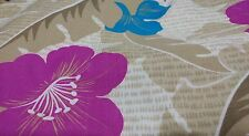 ViTG Floral Hawaiian Print Cotton Blend Fabric by Reflections Made in USA  BTY