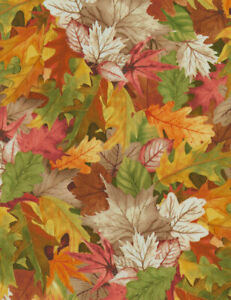 LEAVE NATURE digital print by Timeless treasures 100% cotton fabric autumn, leaf