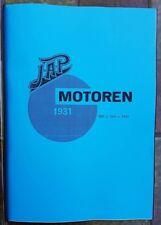 JAP Motoren 1927-1931 - Brochure , Folder - ENG