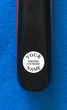 Personal Snooker Cue Badge Disc or Replace Your lost damaged Cue Maker badge