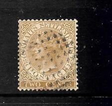 STRAITS SETTLEMENTS 1882  2c   QV   FU   SG 50
