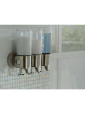 Simplehuman Triple Wall Mount Pumps Dispenser Stainless Steel 15 Oz BOX DAMAGED