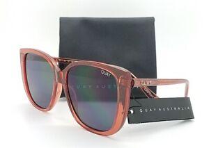 NEW Quay Ever After Sunglasses Cinnamon Amber Smoke Grey AUTHENTIC Women Fashion