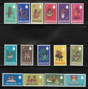 1965 SET GILBERT AND ELLICE ISLANDS POSTAGE STAMPS - SG 89-103 MLH COMMONWEALTH.