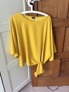 River Island Mustard, Tie Bottom Shirt Size XL
