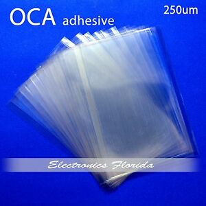 10x - OCA LCD Screen Glass Clear Adhesive Glue Sheet For iphone 5 5S 5C