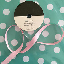 15mm DOUBLE SIDED SATIN RIBBON - Baby Pink - 15 Metre Reel