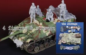 1/35 Resin Jagdpanzer IV Lang, W.SS Crew & Accessories unpainted unassembled