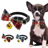 Adorable Cat Pet Puppy Kitten Dog Bow Tie Necktie Collar with Bell for Chihuahua