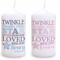 Cellini Candles PERSONALISED BABY KEEPSAKE MEMORY Christening Gift Newborn #4