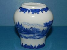 Baum Bros. Formalities Blue Scenic Collection Sm. Vase_4144