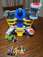 Fisher Price Imaginext Space Station Alpha Explorer Spaceship USED with Figures