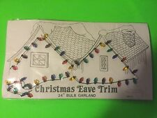 "3 pkgs Dept.56 Christmas Eave Trim 24"" Bulb Garland Village Accessory light bulb"