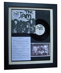 "THE JAM+WELLER In The City 7"" VINYL TOP QUALITY FRAMED DISPLAY+FAST GLOBAL SHIP"