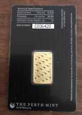 Perth Mint 10 Gram Gold Bar Sealed Tamper Proof Case