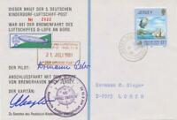 JERSEY 1981 combined Balloon Post / Ship Post Cover for Pestalozzi Kinderdorf