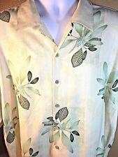 Folio New York XXL Silk Plant Tiki Hawaiian Shirt Men's