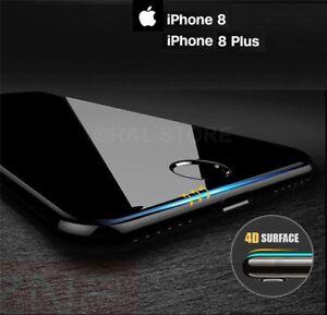 PELLICOLA VETRO TEMPERATO CURVO per Apple Iphone 8 / 8 Plus PROTEZIONE TOTALE
