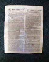 GENERAL WILLAM HOWE Replaces Thomas Gage 1775 Revolutionary War U.S. Newspaper