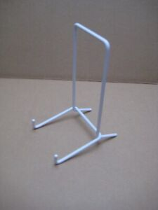 10 x Wire plate display stand, white, used