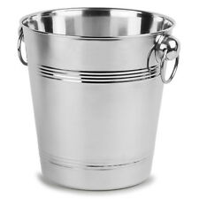 7 Pint / 4 Litre Champagne Ice Bucket Wine Cooler Contemporary Holds 75cl Bottle