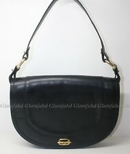 Authentic VINTAGE GUCCI GG LEATHER SHOULDER BAG with free bag twilly