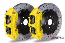 Brembo Front GT Brake 6p Caliper Yellow 405x34 Drill Disc BMW E70 F15 X5 E71 X6