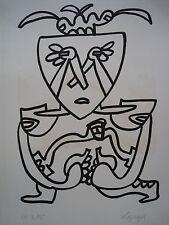 LAPICQUE Charles - Lithographie lithograph signée EA Jean qui pleure 1967 ++