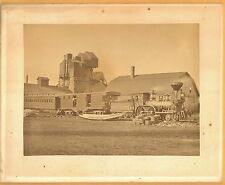 C 1880s Katahdin Ironworks w Locomotive Full Plate Albumen Photo