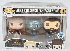 Alice In Wonderland Funko Pop Vinyl Three Pack Cheshire Cat Disney Store Excl