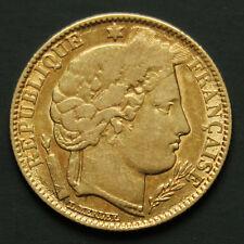 10 francs or Cérès années variées Gold coin France random years