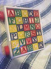 Ankyo New Classic ABC Alphabet Wooden Block Cart 30 Wood Blocks