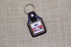 Toyota MR2 Mk1 Keyring - Leatherette & Chrome Keyfob