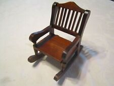 Dollhouse Miniature Furniture Wooden Rocking Chair