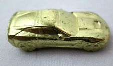 """Monopoly Corvette Race Car Replacement Game Piece Miniature Gold-tone 1.25"""" long"""