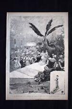 Il carnevale di Napoli - Ballo per i danneggiati di Vienna Incisione del 1882