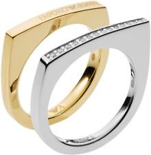 Emporio Armani Ladies Silver Rings EG3325040 Size 5.5
