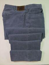 Polo Ralph Lauren Mens Pure Cotton Corduroy Solid Blue Slacks Pants Size 36x32