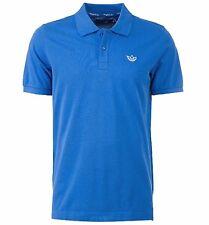 New Mens Adidas Originals Pique Polo Shirt T-Shirt Top - Blue