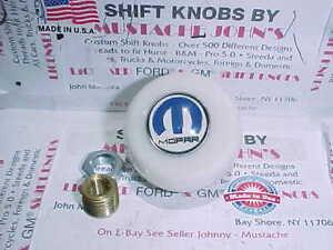 MOPAR, Dodge, Plymouth, Chrysler, Custom   pure white   Shift Knob, Hot Rod,