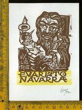 Ex Libris Originale Evaristo Navarra a 474