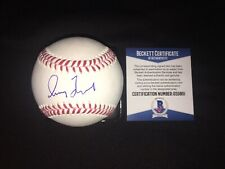 Greg Maddux Signed Major League Baseball Atlanta Braves Hall Of Fame Beckett