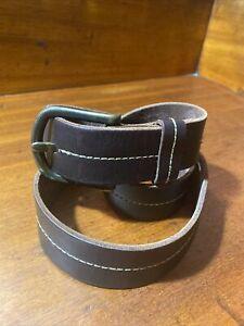 Ben Sherman Mens Brown Leather Belt Size M
